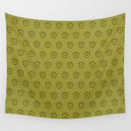 Golden Lime Eye Wall Tapestry