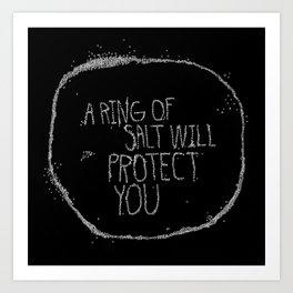 A Ring of Salt in black Art Print