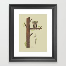Sitting Up A Tree Is Where Koala's Meant To Be Framed Art Print