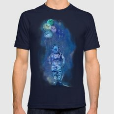 Balloon Fish Navy LARGE Mens Fitted Tee