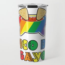 Gay Pride Gift Pico De Gayo Pico De Gallo Rainbow LGBT Travel Mug