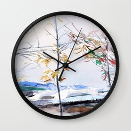 Autumn landscape with trees - Digital Remastered Edition Wall Clock