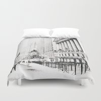new york city Duvet Covers featuring New York City Christmas by Vivienne Gucwa