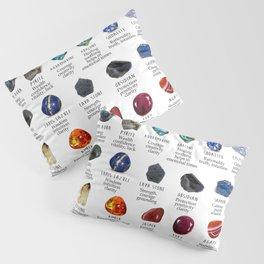 crystals gemstones identification Pillow Sham