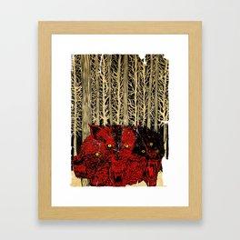 HELL WOLVES Framed Art Print
