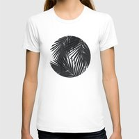 palms T-shirts featuring Palms Black by Caitlin Workman