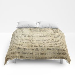 Pride and Prejudice  Vintage Mr. Darcy Proposal by Jane Austen   Comforters