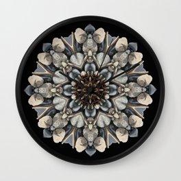 Driftwood Mandala 1 Wall Clock
