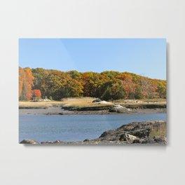 Autumn on the New England Coast Metal Print
