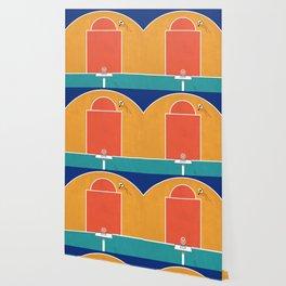 Shoot Hoops   Aerial Illustration Wallpaper