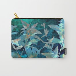 Abstract watercolor background and branch plant Carry-All Pouch