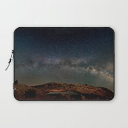 Starry Night Over Mesa Arch Laptop Sleeve