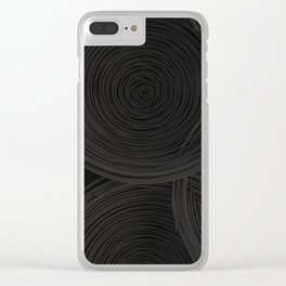Black spiraled coils Clear iPhone Case