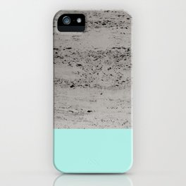 Bright Mint on Concrete #1 #decor #art #society6 iPhone Case