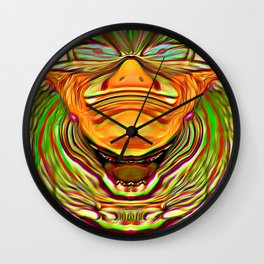Three Faces ~ The Sleeping Clown Wall Clock