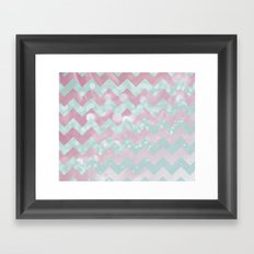 Chevron Mix Framed Art Print