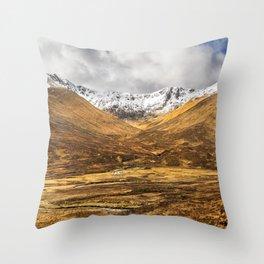 Golden Valley. Throw Pillow
