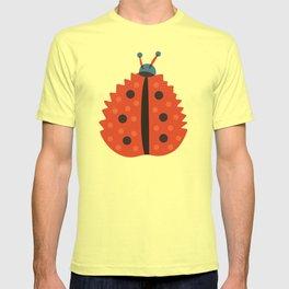 Orange Ladybug Autumn Leaf T-shirt
