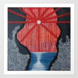 Blood Sticks Waterfalls Art Print