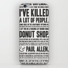 American Psycho - Patrick Bateman's Confession iPhone & iPod Skin