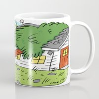 beaver Mugs featuring Beaver Love by Clayton (CTON) Hanmer
