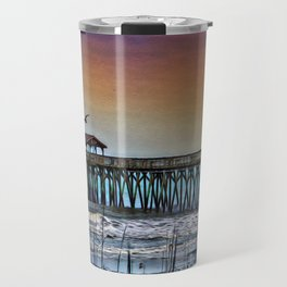 Myrtle Beach State Park Pier - Photo as Digital Paint Travel Mug