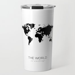 World Map, Travel Mug