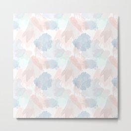 Pastel Watercolor Splash Pattern Metal Print