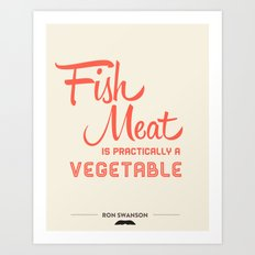 Fish Meat Art Print