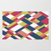 matisse Area & Throw Rugs featuring Map Matisse by Project M