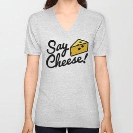 Say Cheese! Unisex V-Neck