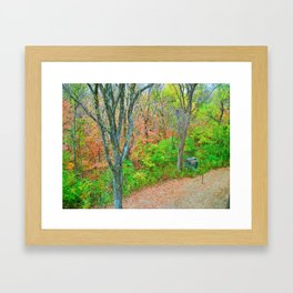 An Autumn Walk Through The Hills Framed Art Print