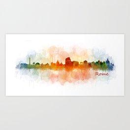 Rome city skyline HQ v03 Art Print