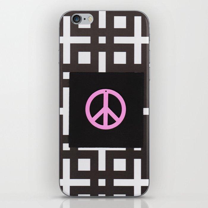 black and white symbol iPhone Skin