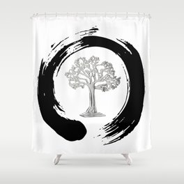 Yggdrasil Norse Cosmology Ash Tree Of Life Good Evil Eternity Zen Shower Curtain