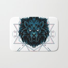 The Wild Lion sacred geometry Bath Mat