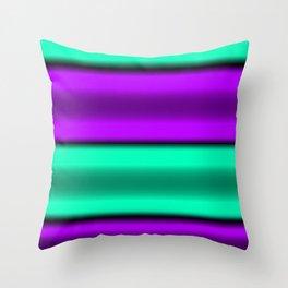 Purple & Mint Horizontal Stripes Throw Pillow