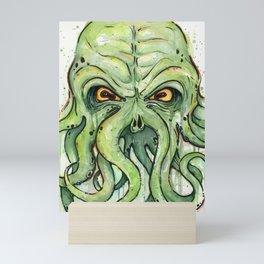 Cthulhu HP Lovecraft Green Monster Tentacles Mini Art Print