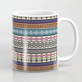 Modern Native Navajo Ethnic Tribal Pattern V.02 Coffee Mug