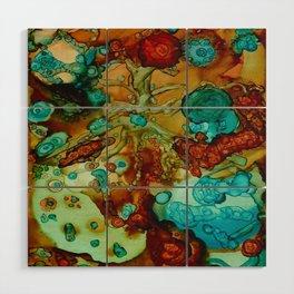 flora beginnings Abstract Wood Wall Art