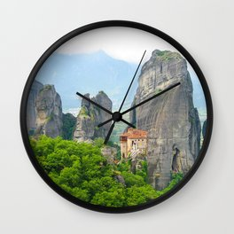 Christian Orthodox monastery of Meteora, Greece Wall Clock