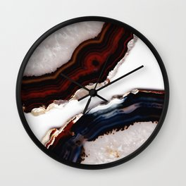 Red meets Blue - Agate Translucent #1 #decor #art #society6 Wall Clock