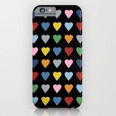 64 Hearts Black Slim Case iPhone 6