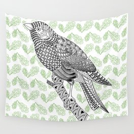 Doodle Bird Wall Tapestry
