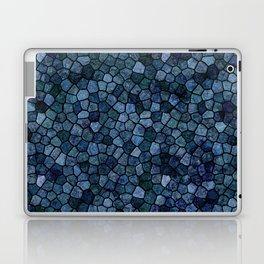 Blue Lagoon Midnight Rippled Water Abstract Laptop & iPad Skin