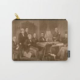 President Lincoln, His Cabinet, and General Scott Carry-All Pouch