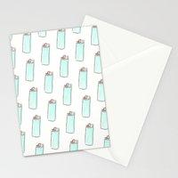 Lighter Pattern Stationery Cards