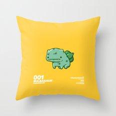 001 Bulbasaur Throw Pillow