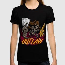 Cowboy Skull Head Gun Skeleton  Bones Cowhand Gift T-shirt