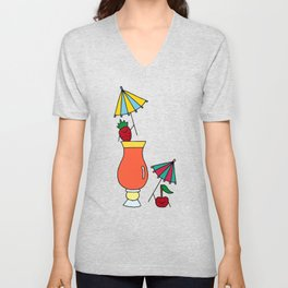 Fruity Cocktail Party  Unisex V-Neck